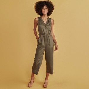 Marine Layer Katy Jumpsuit in Dusty Olive